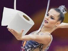 Гимнастка Селезнева поддержала флешмоб с туалетной бумагой