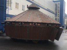 В Белоруссии создали танк на конской тяге по эскизам да Винчи