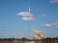 Видео удара молнии в ракету-носитель «Союз-2.1б»
