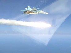 Пуск сверхзвуковой ракеты «Криптон» с Су-34