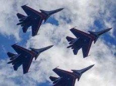 Су-30СМ выполнили групповую «петлю Нестерова»
