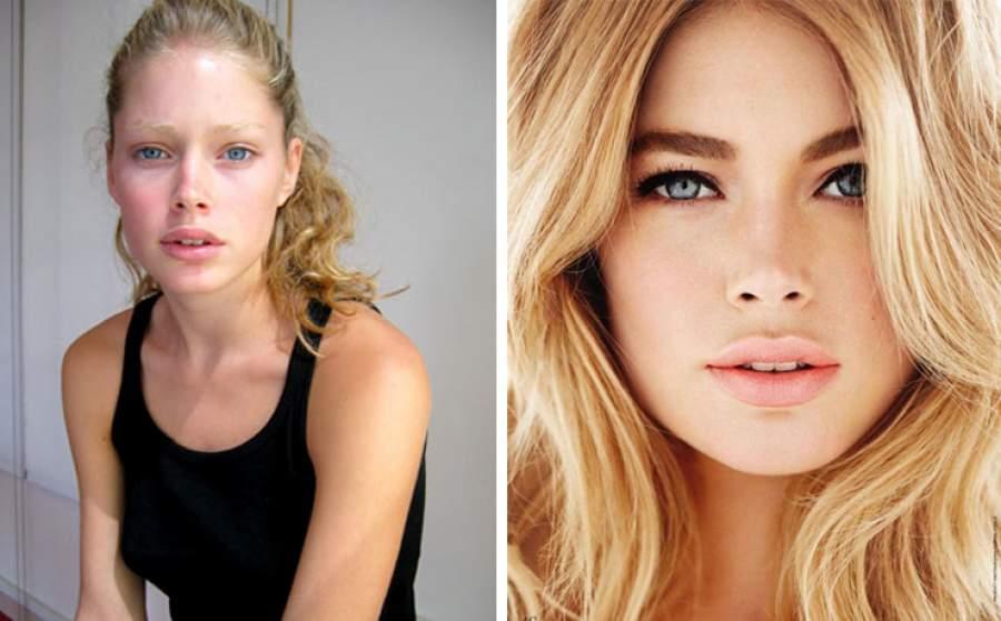 Как выглядят ангелы Victoria's Secret без макияжа и фотошопа