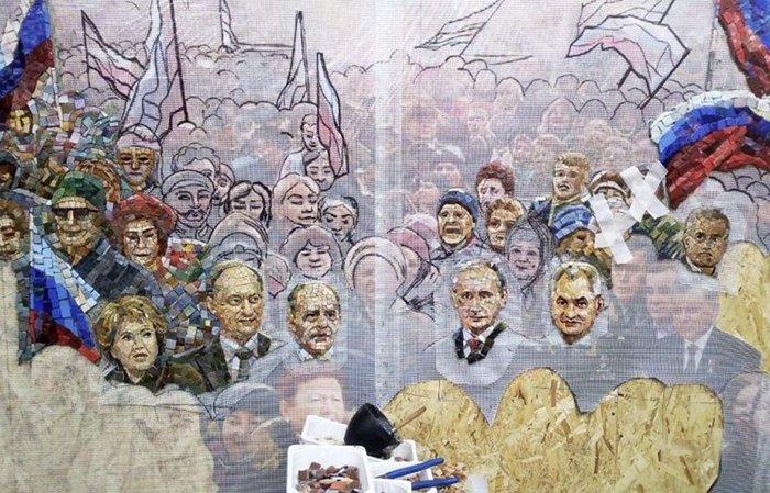 Мозаика с изображением Путина в храме ВС РФ демонтирована