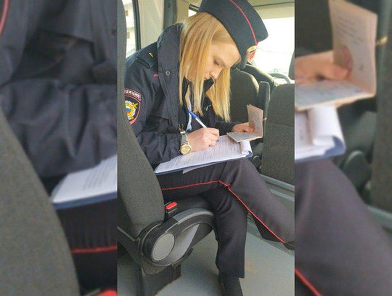 Женщина-полицейский без маски штрафовала за такое же нарушение