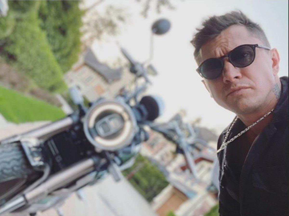 Прилучный и мотоцикл