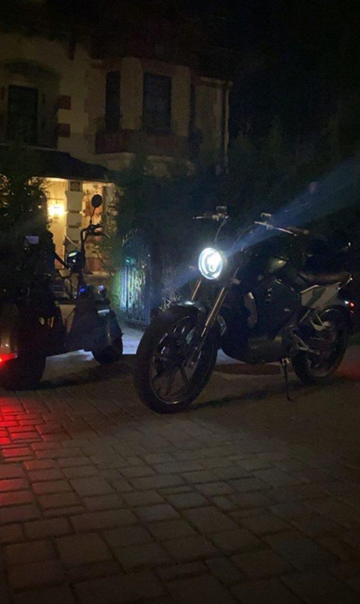 Прилучный на мотоцикле
