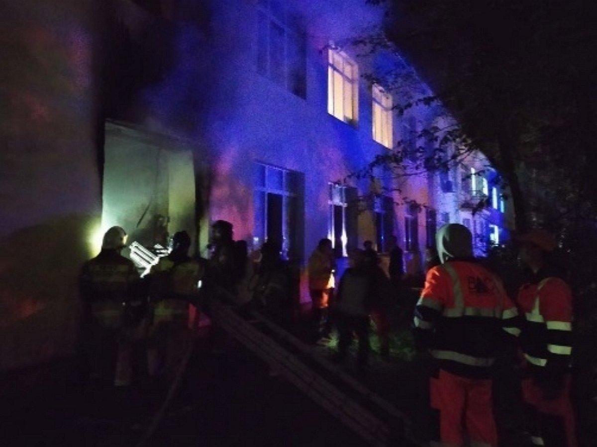 пожар в больнице Татарстана
