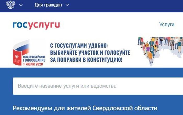 На сайте Госуслуг нашли агитацию за поправки к Конституции