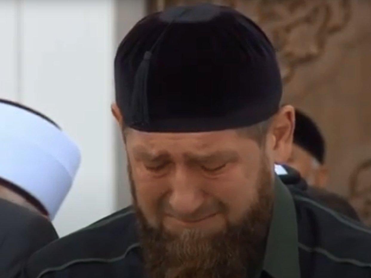 Кадыров расплакался на проповеди