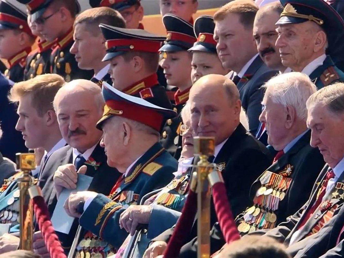 Парад Победы Лукашенко и Путин 24 июня 2020 в Москве