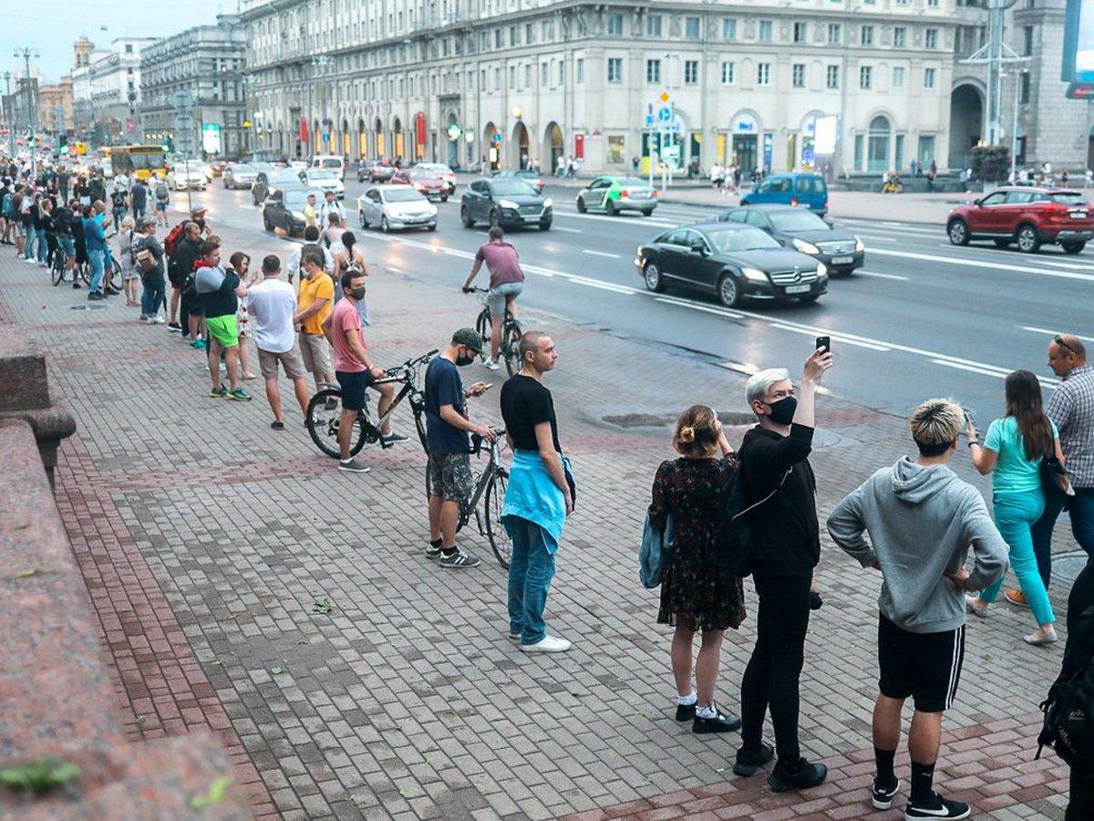 Цепь солидарности в Минске