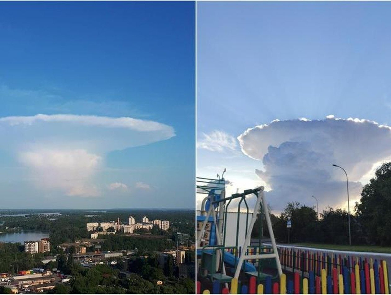 Таинственный «гриб-НЛО» в небе перепугал украинцев
