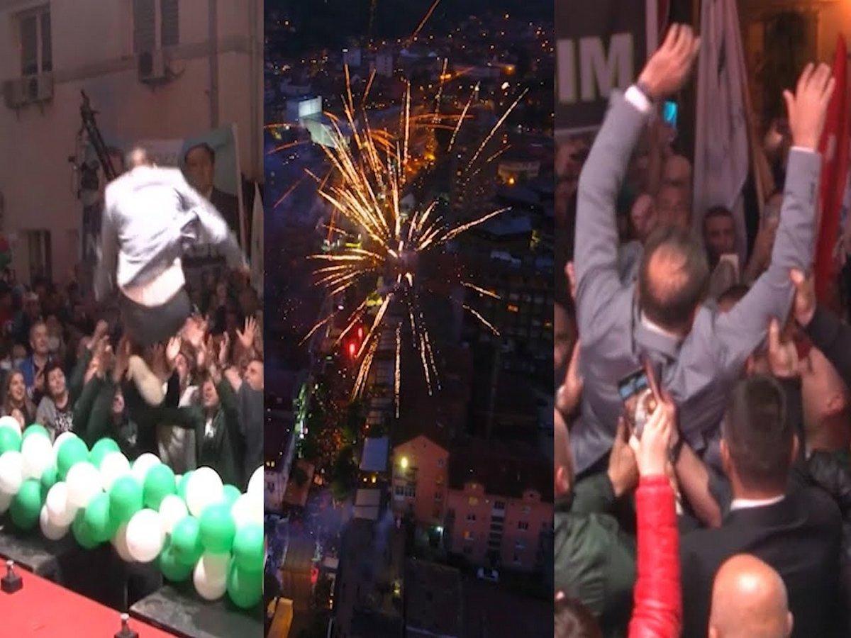 Вице-премьер прыгнул со сцены в толпу на предвыборном митинге