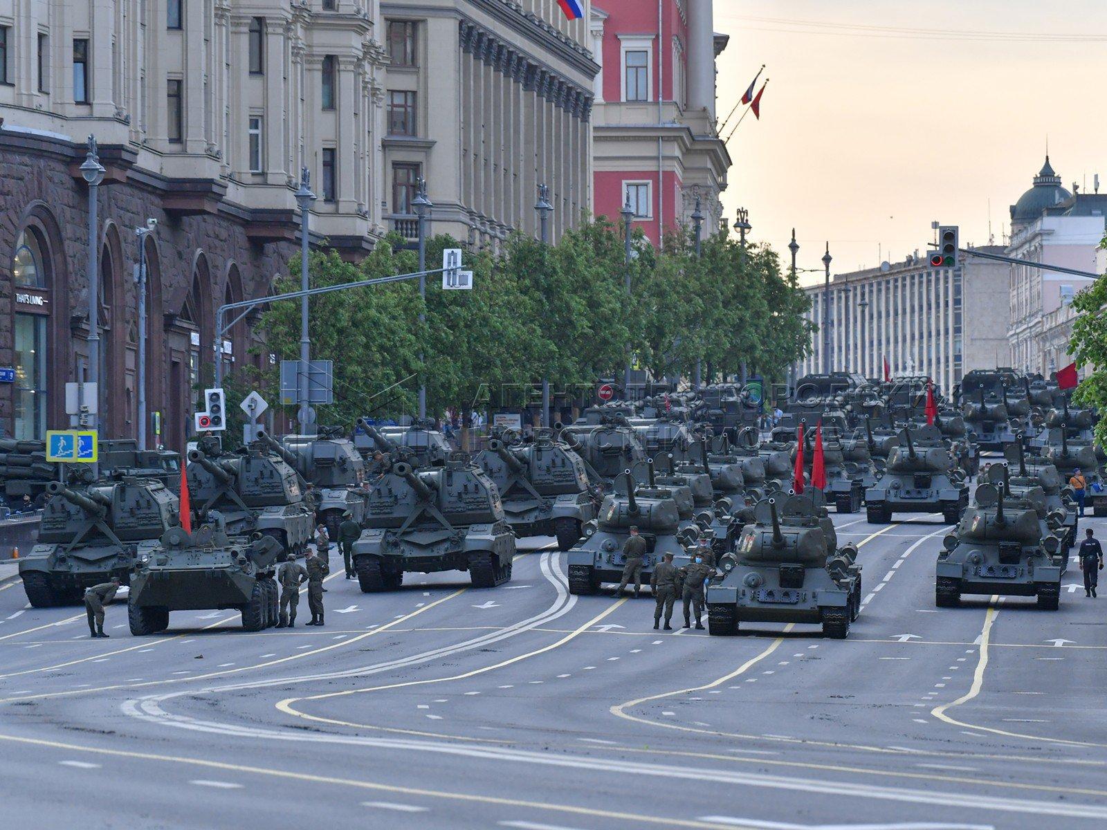Репетиция парада Победы в Москве