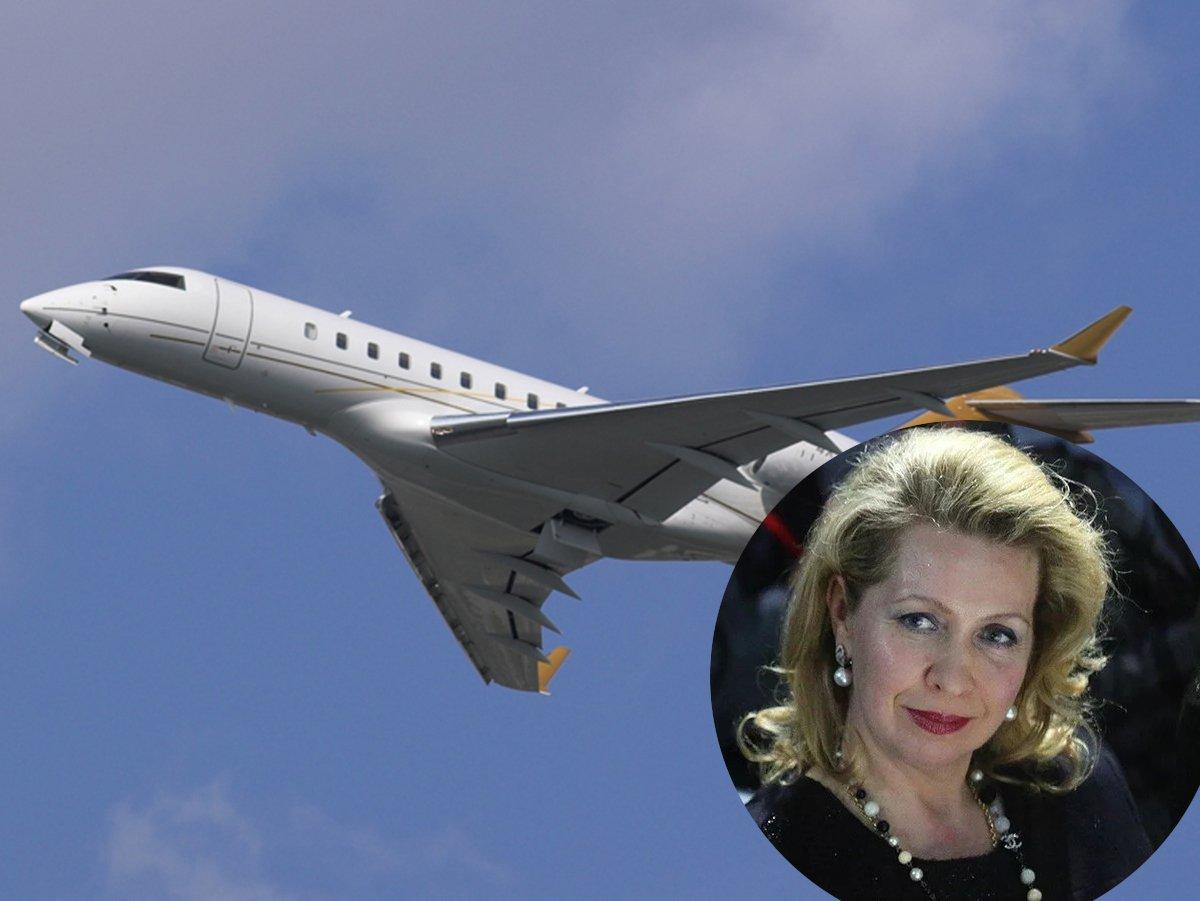 Самолет Светланы Медведевой