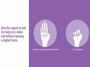 Как жертва домашнего насилия может тайно попросить о помощи