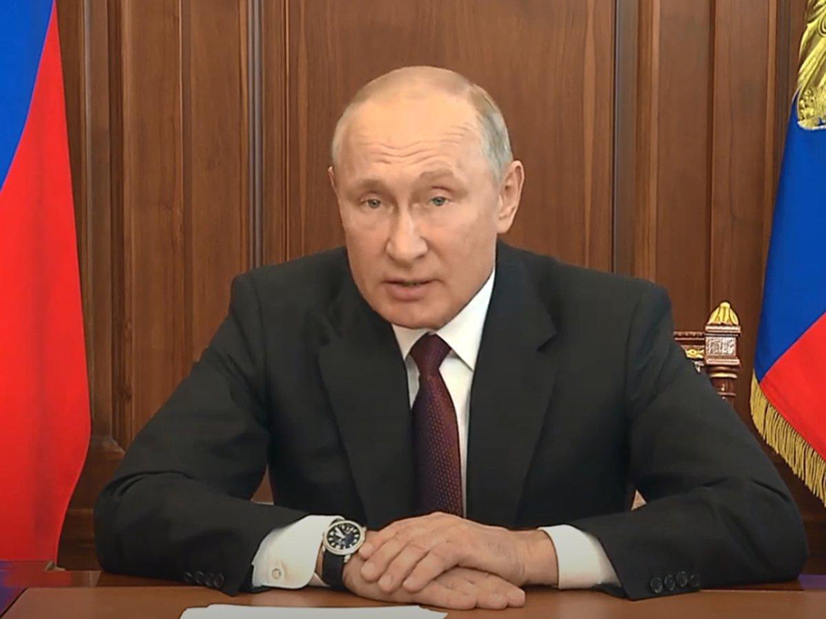 Видеообращение Путина