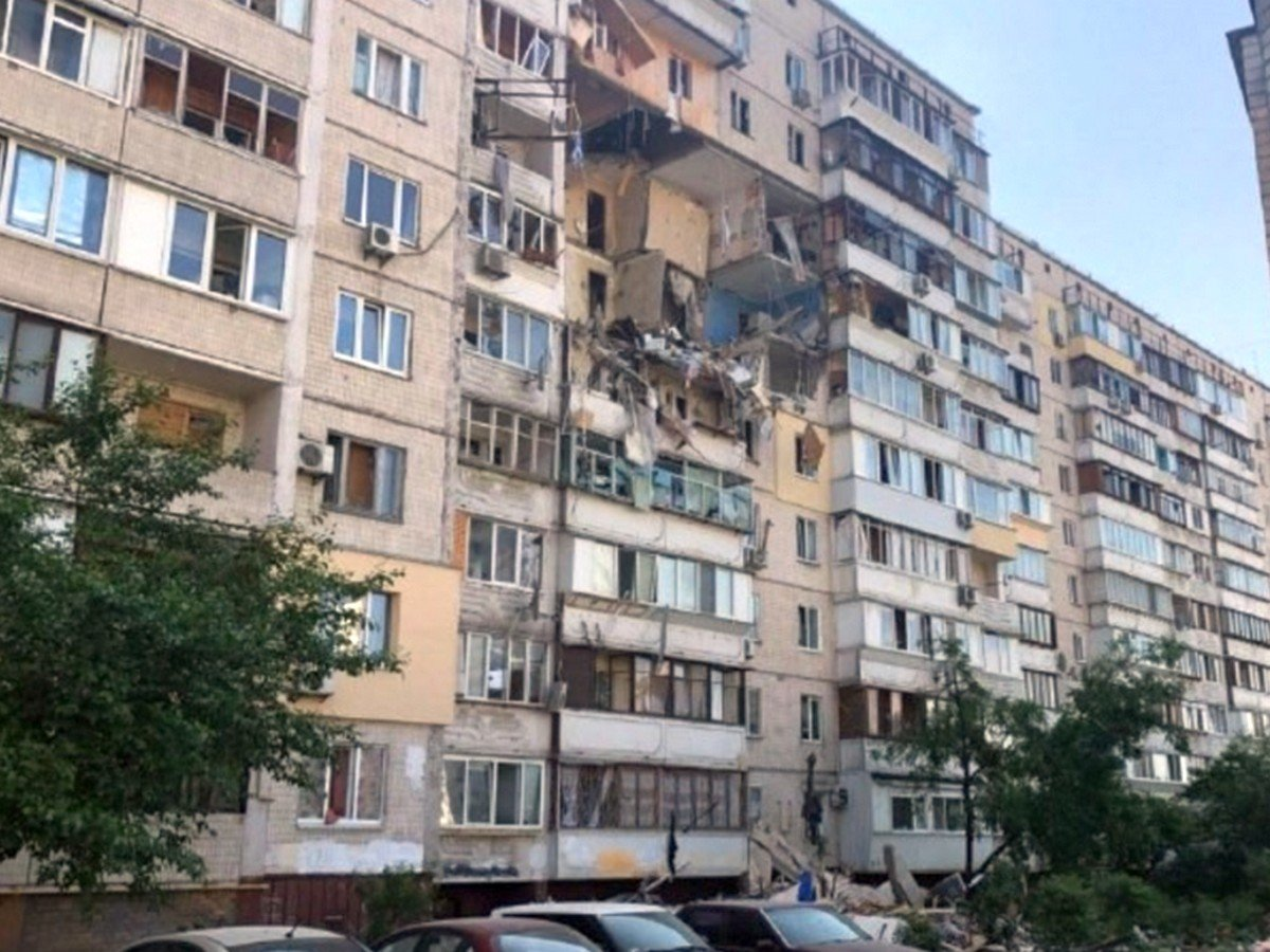 В жилом доме в Киеве прогремел мощный взрыв