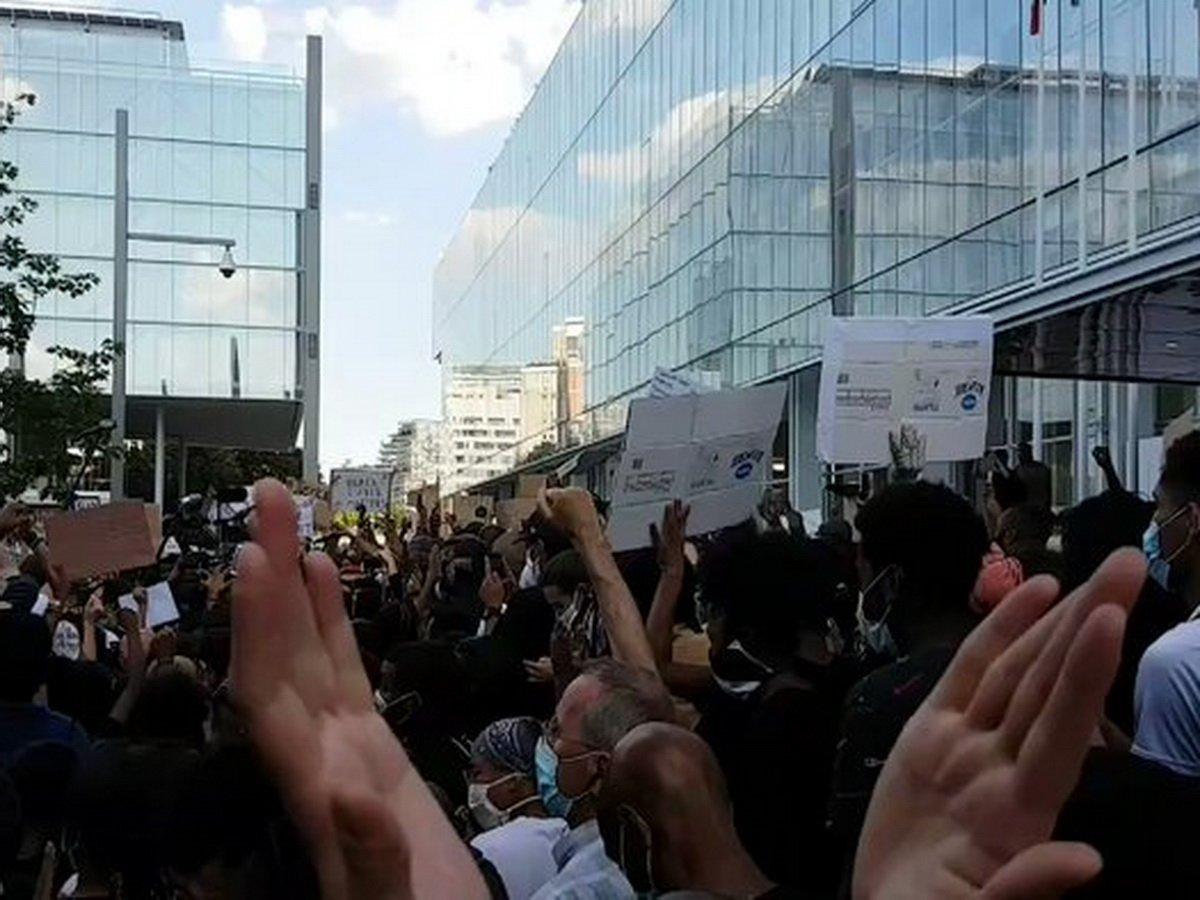 Акция протеста прошла во Франции