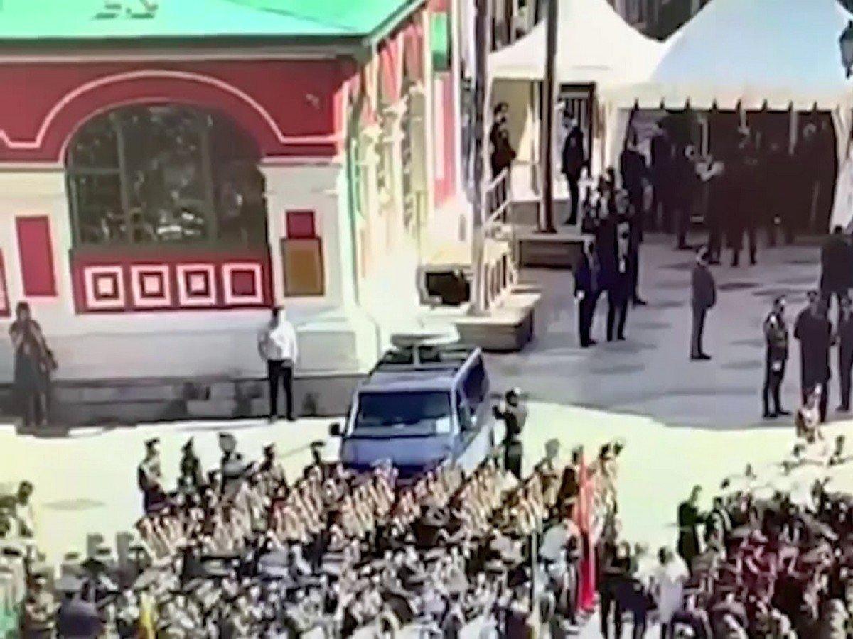 Разбивший окно ФСО солдат попал на видео