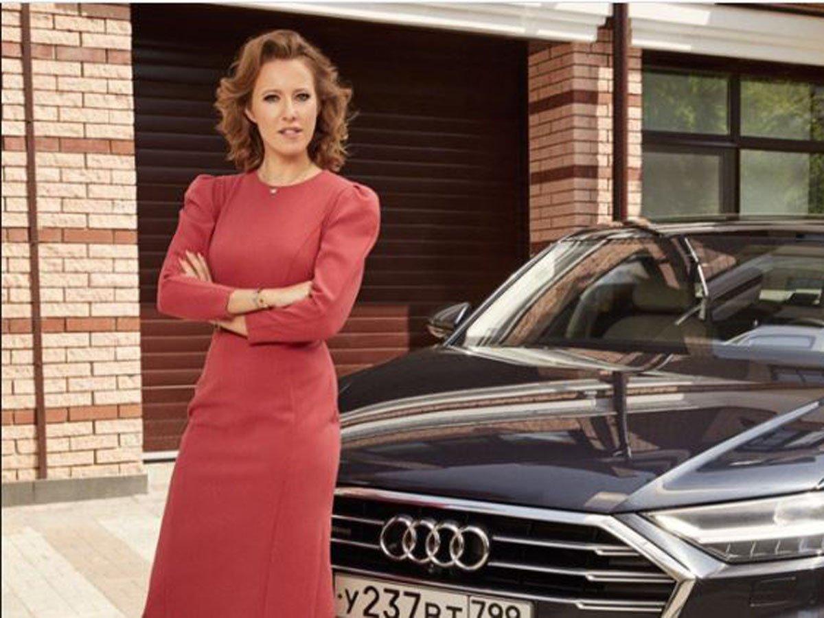 Audi разорвала контракт с Собчак из-за ее сообщения в Instagram