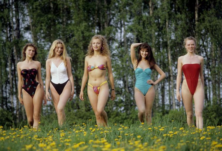 Участницы конкурса красоты «мисс СССР — 1989» и другие редкие исторические кадры