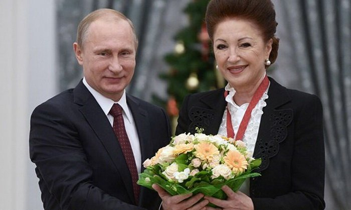 Лейла Адамян и Владимир Путин