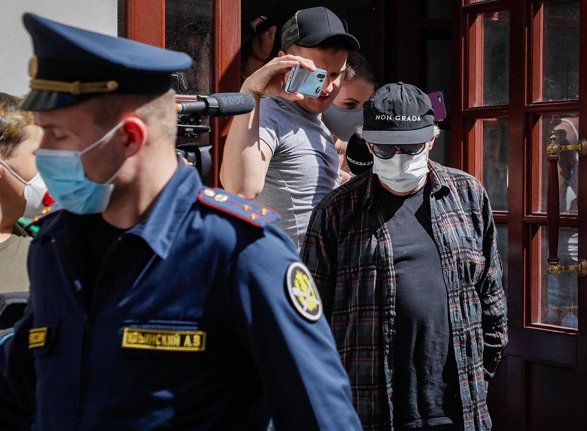 Ефремов в суде после аварии
