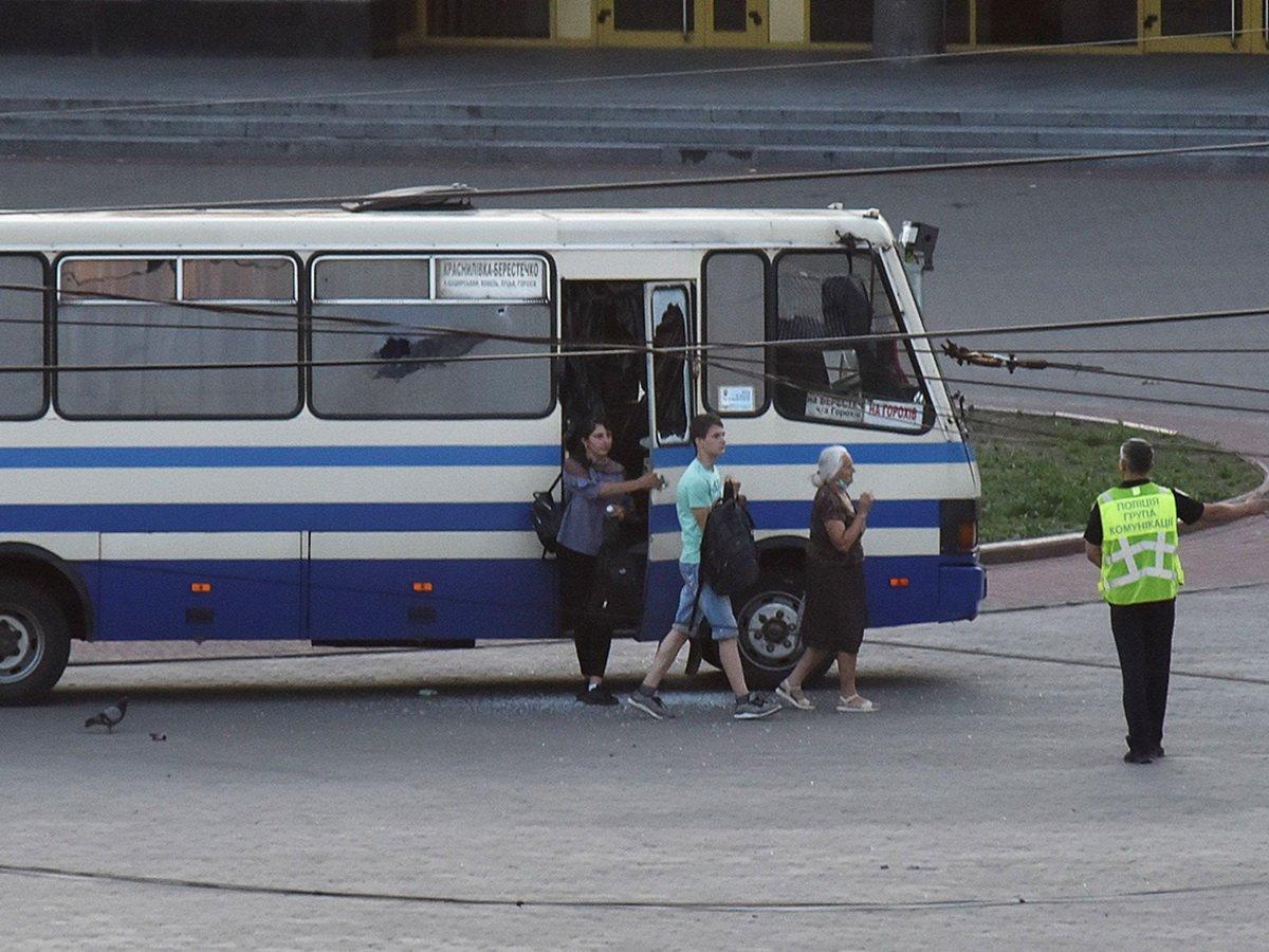 Захват заложников в автобусе в Луцке
