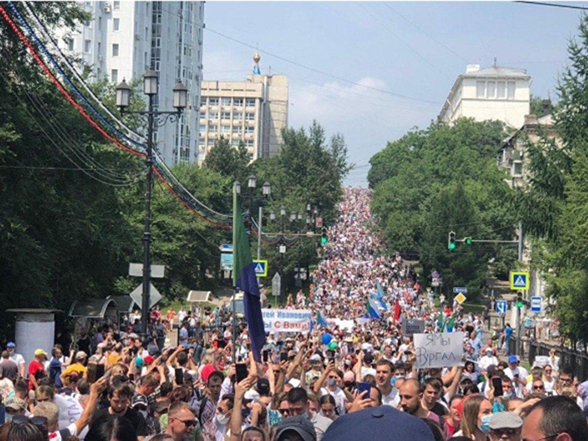 Митинги в Хабаровске в поддержку Фургала