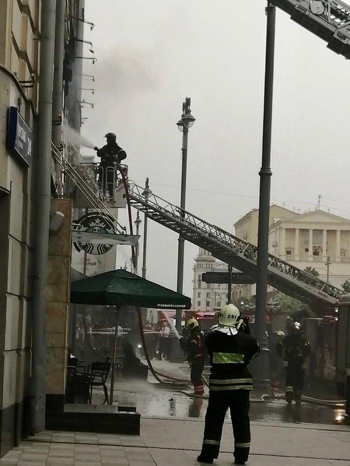 Пожар на Тверской Москва