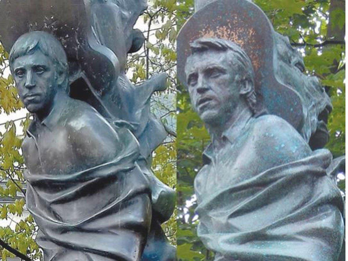 Садальский наехал на Никиту Высоцкого из-за отрезанной головы памятника отца
