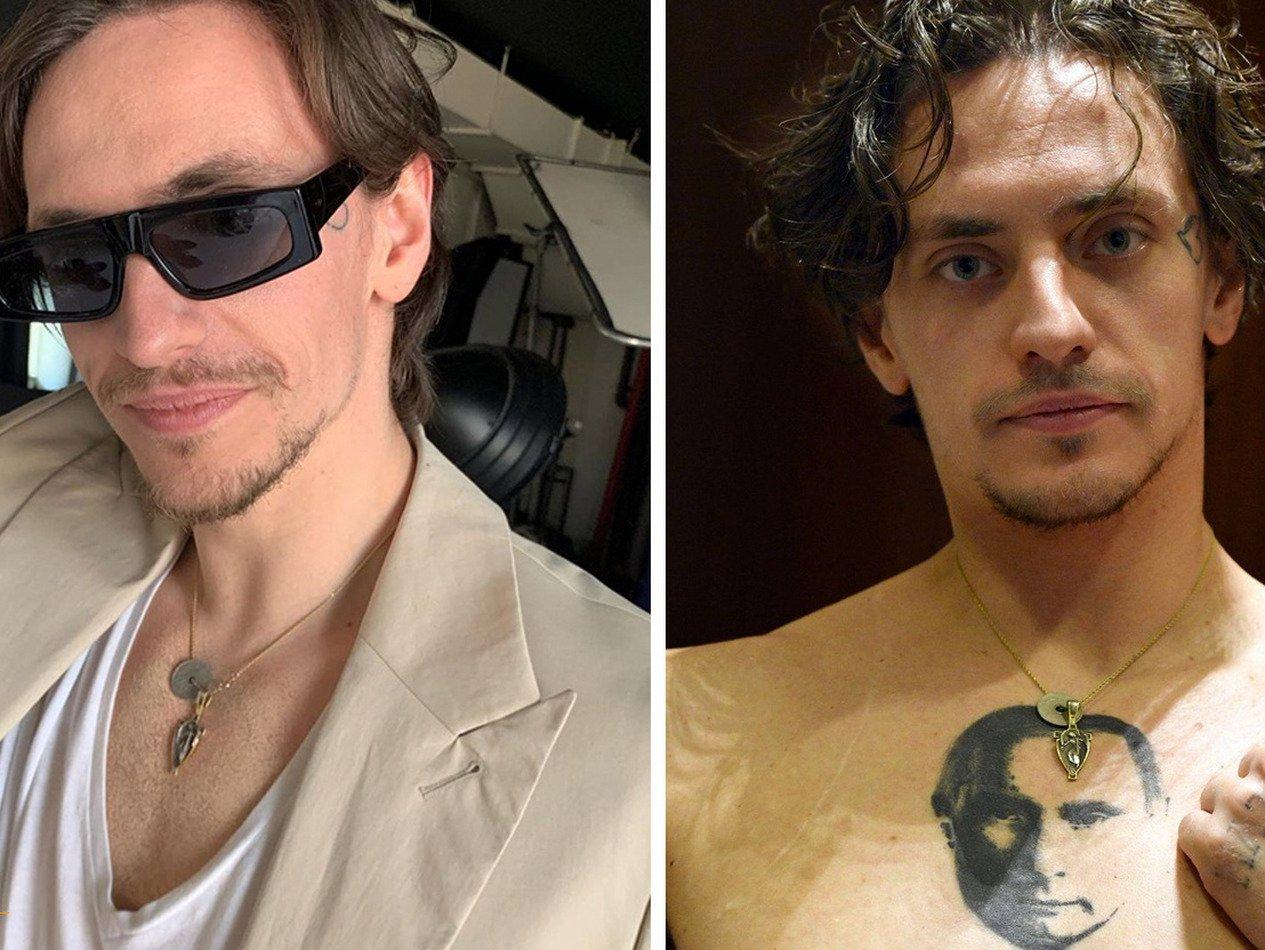 Украинский танцовщик показал фото без татуировки Путина на груди