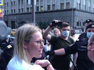 Собчак задержали на Лубянке за несогласованную акцию