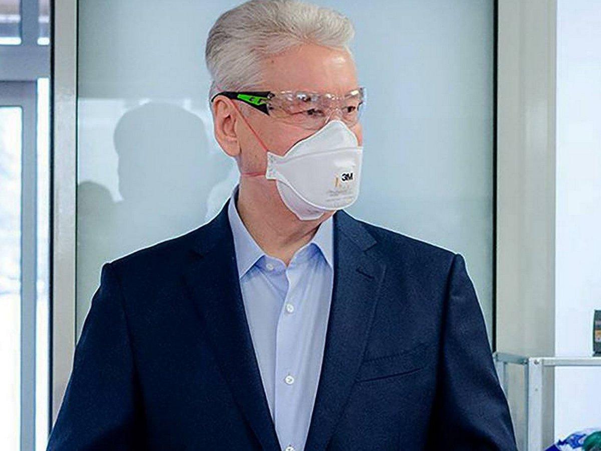 Сергей Собянин в маске