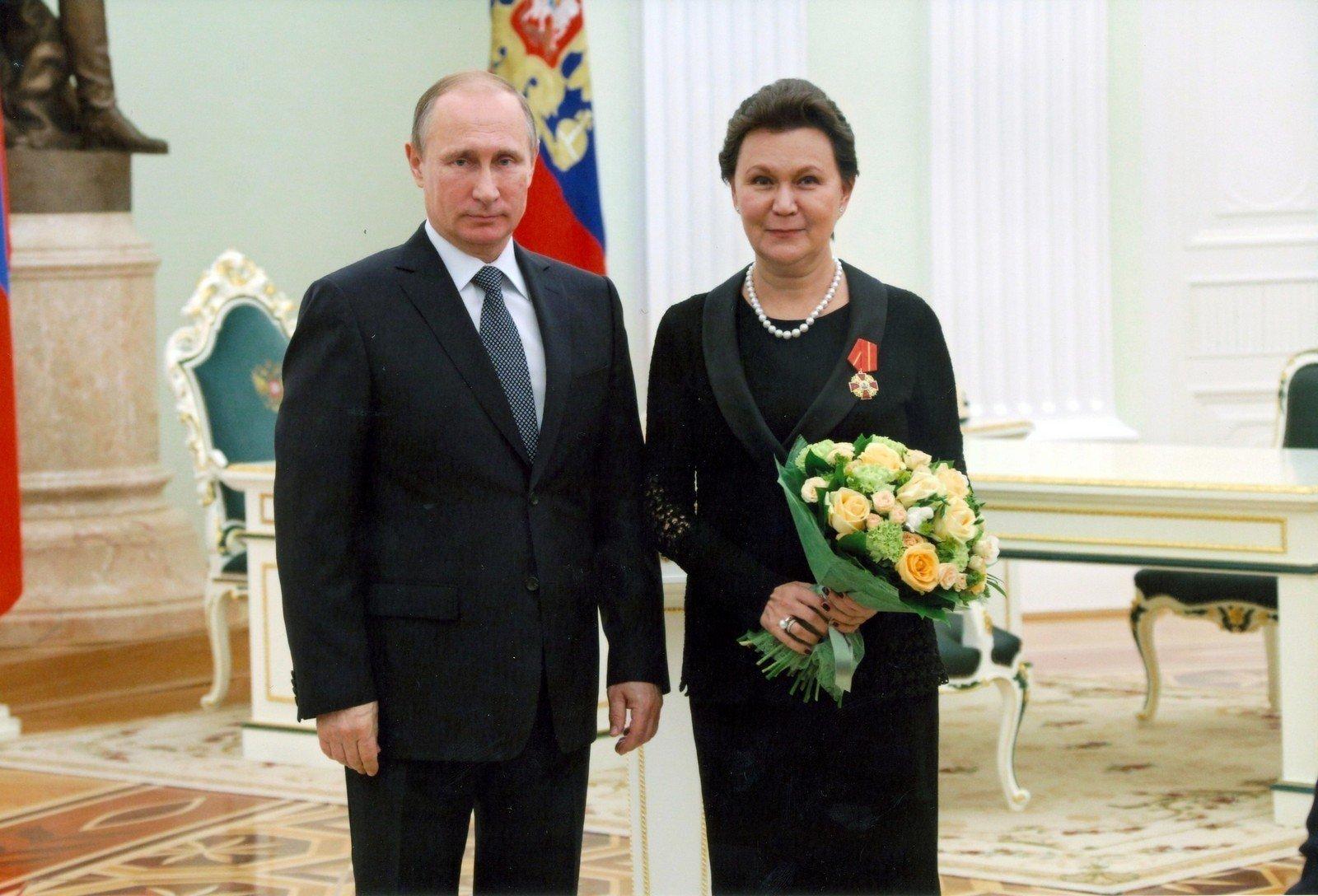 Талия Хабриева и Владимир Путин