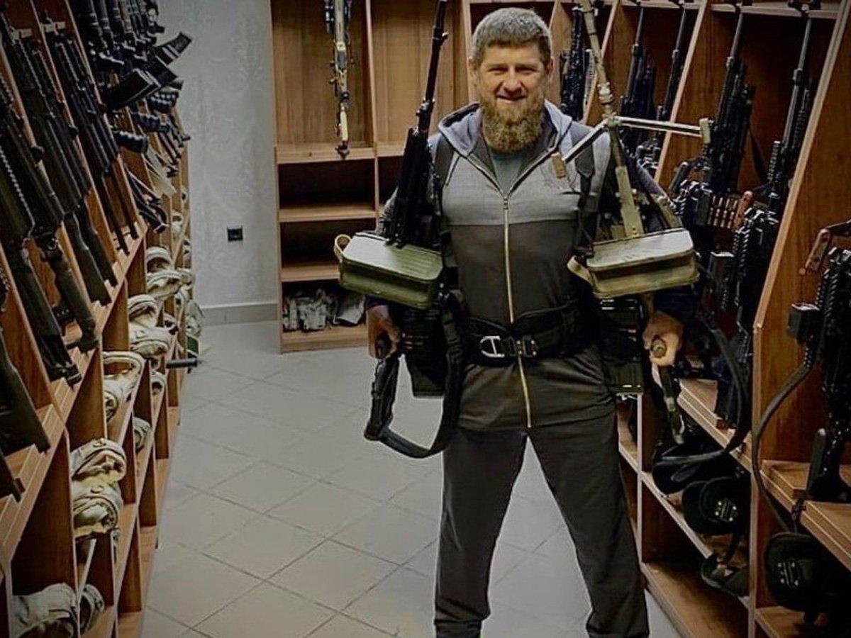 В Кремле пояснили оружие Кадырова и дали ему новое воинское звание