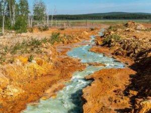 кислотные реки Левихинского рудника