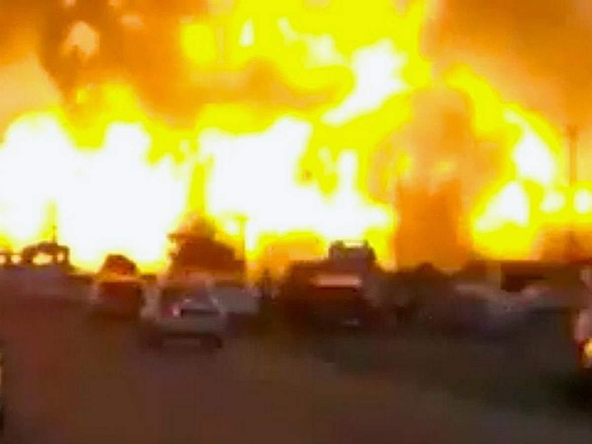 Взрыв на АЗС Кубани попал на видео, есть пострадавшие