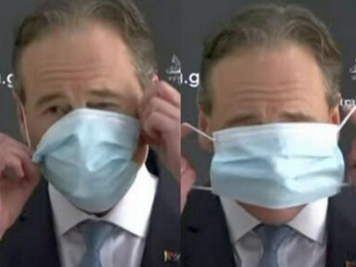 Грег Хант в маске
