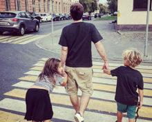 Резо Гигинеишвили с детьми
