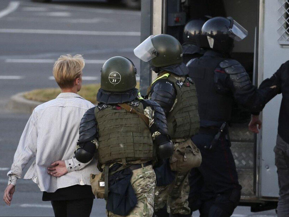 Жесткие задержания в Белоруссии