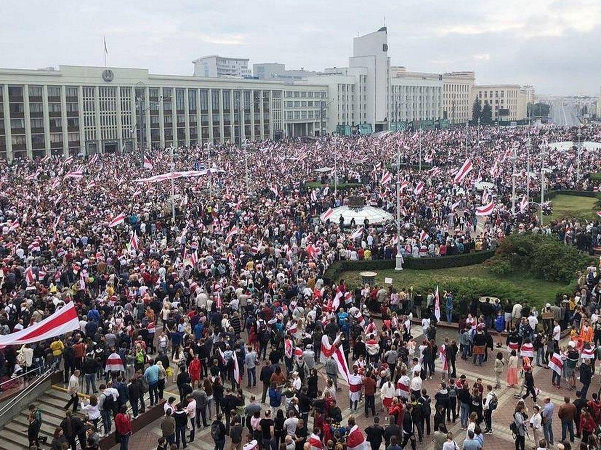 Акция протеста в Минске 23 августа