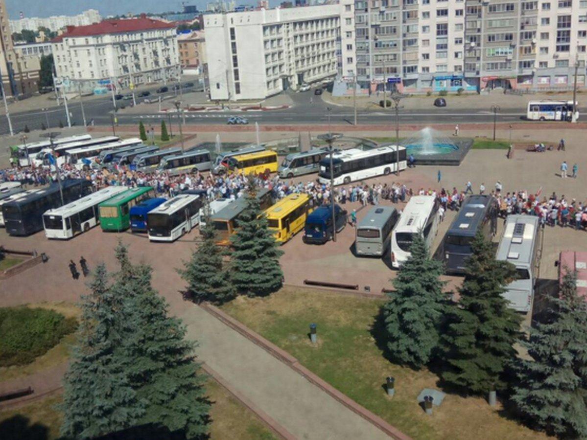 Митинг в поддержку Лукашенко в Минске