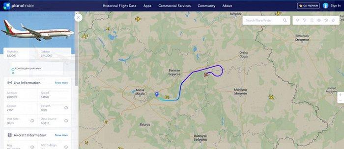 Самолет Лукашенко вылетел из Минска в сторону России
