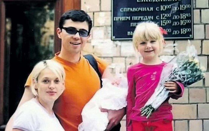 Сергей Бодров с дочерьми