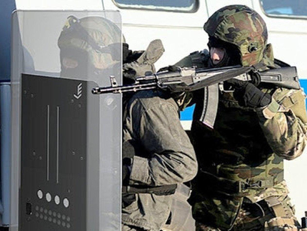 Российские силовики получат щиты, которые стреляют гранатами