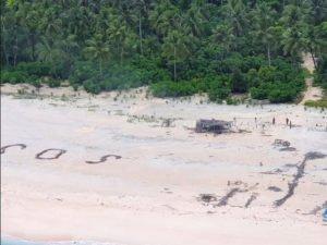 На необитаемом острове нашли трех моряков