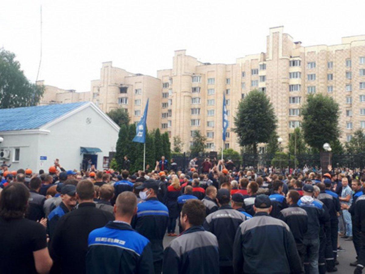 Забастоввка Белаз