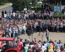 «Мы не овцы, не быдло, не народец!»: Минский тракторный завод остановил работу